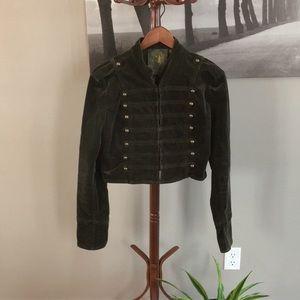Green velvet Sgt. Pepper style jacket